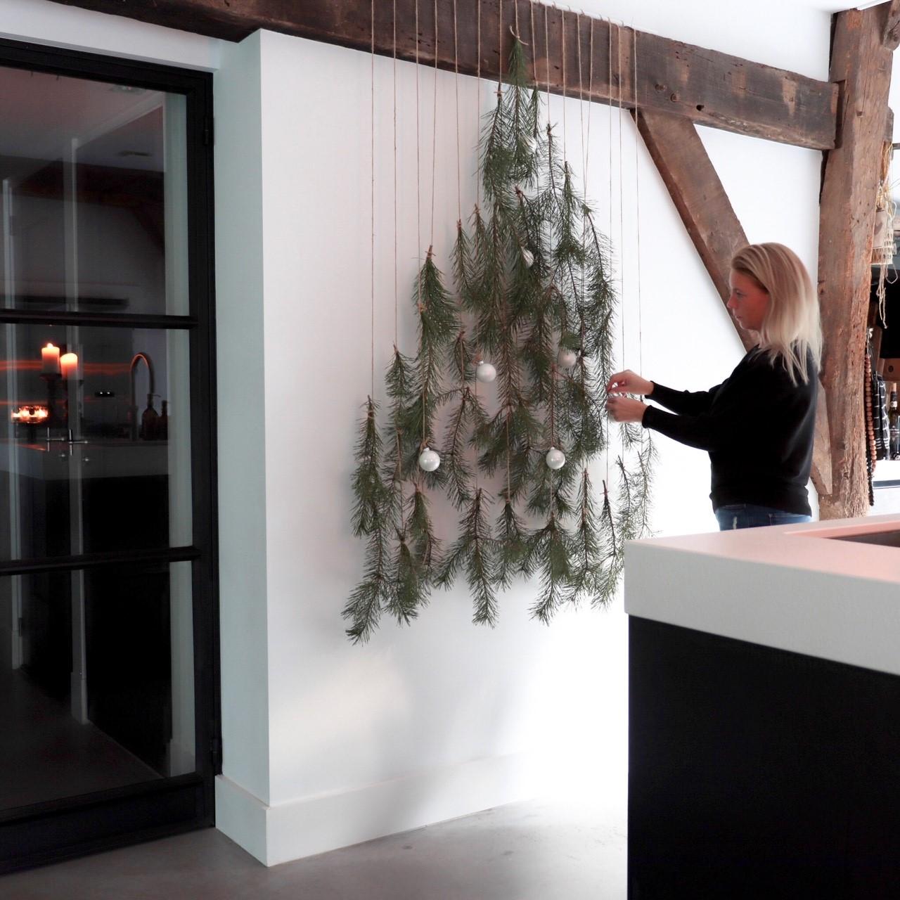 Hangende kerstboom DIY