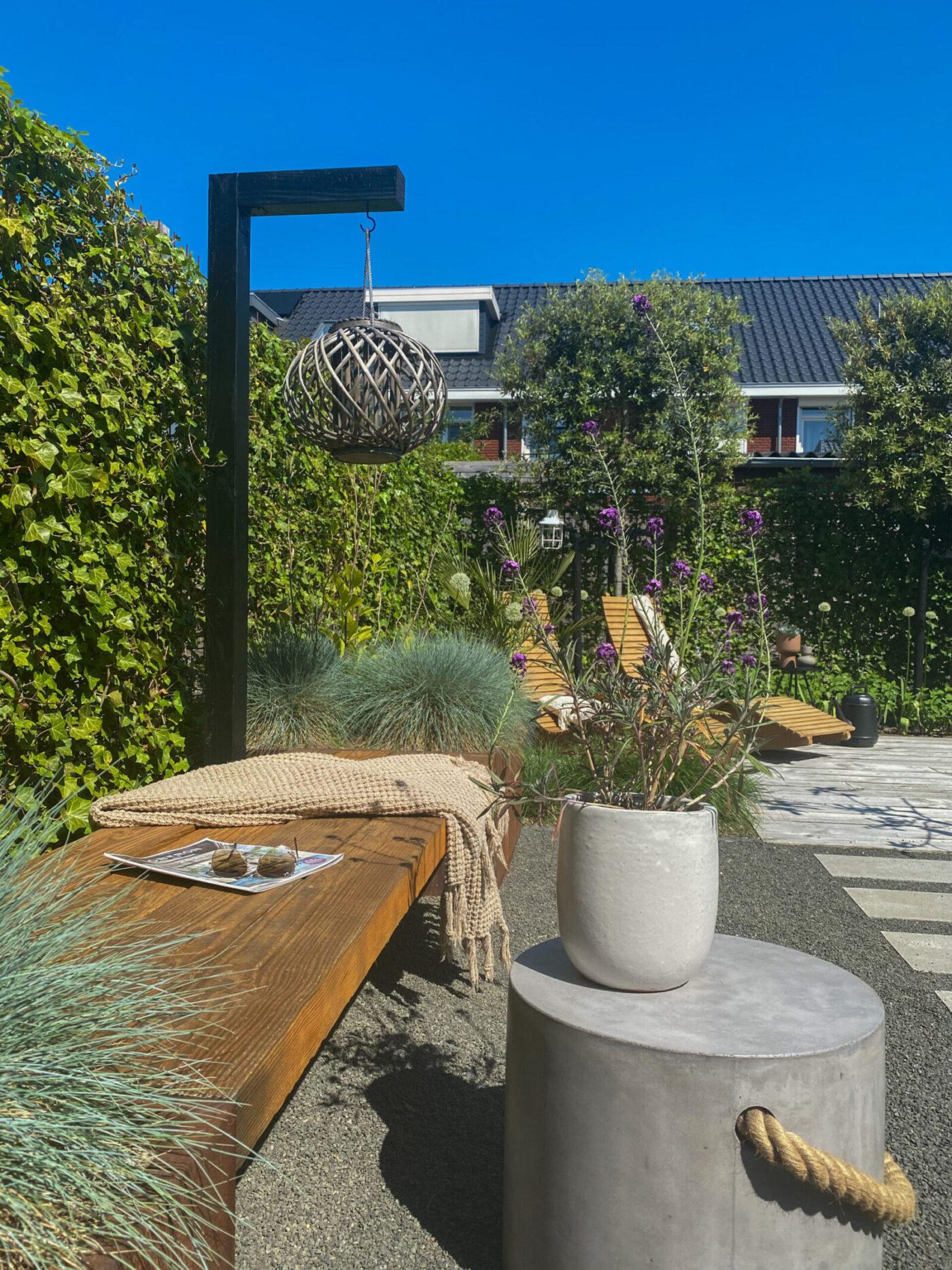 7 tips om je tuin te ontwerpen - steeneik - DIY hanglantaarnpaal